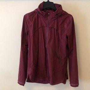 Lululemon Maroon Rain Jacket